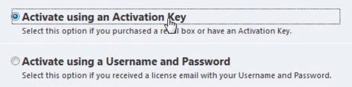 eset nod32 username and password keys